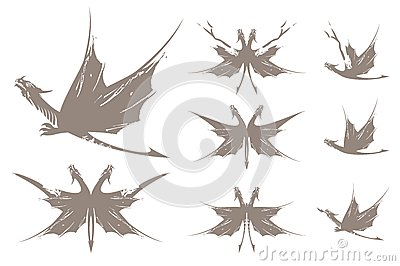 Dragons butterfly symbols