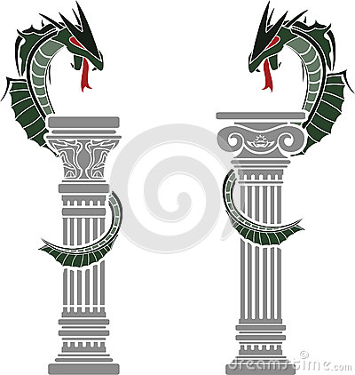 Dragons and columns