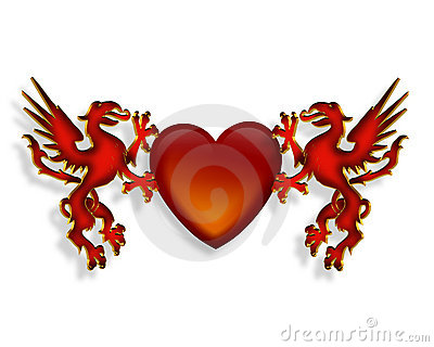 Dragons Heart 3D graphic