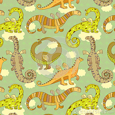 Dragons pattern
