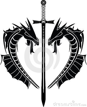 Dragons and sword