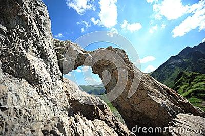 Dragons window - Fagaras mountains, Romania