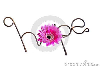 Draht-Wort: Hoffnung
