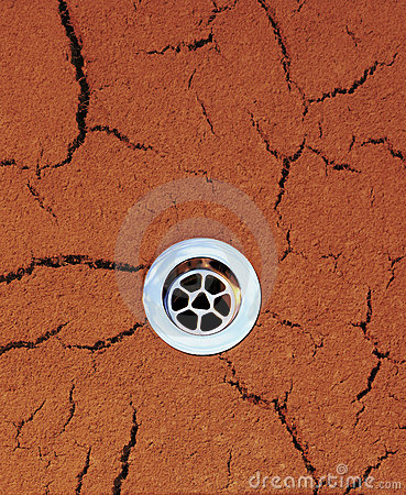Drain Dry Drought Background