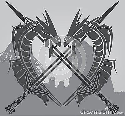 Drakar och svärd