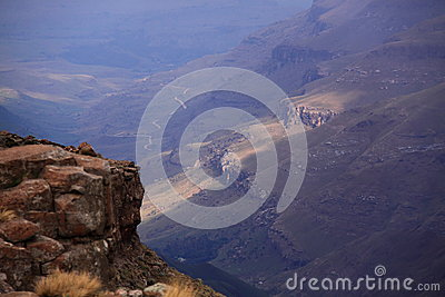 Drakensberg mountain view south africa