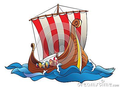 Drakkar of vikings