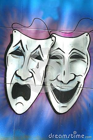 Free Drama And Comedy Masks Stock Photo - 44075830