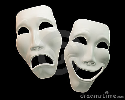 Drama And Comedy Theatre Symbols Stock Photography Image