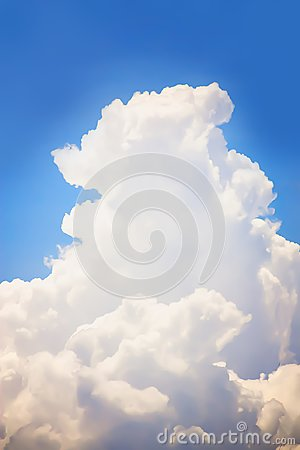 Free Dramatic Atmosphere Vertical View Of Beautiful Blue Sky. Royalty Free Stock Photo - 105789405