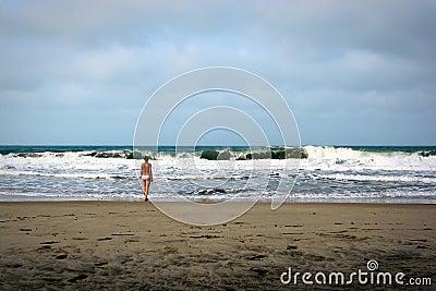 Dramatic beach