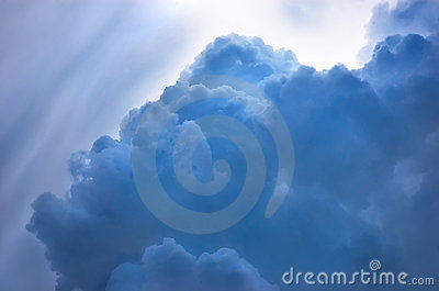 Dramatic blue cloudscape