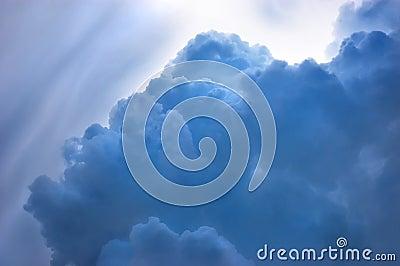 Dramatic blue cloudscape