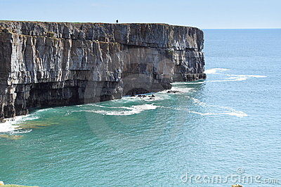 Dramatic cliffs and a sunny blue sea