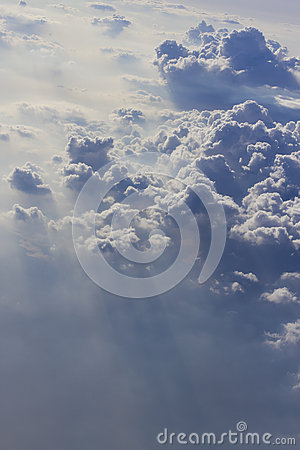 Dramatic cloudscape from above
