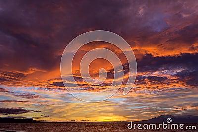fiery glow burning sunset - photo #24