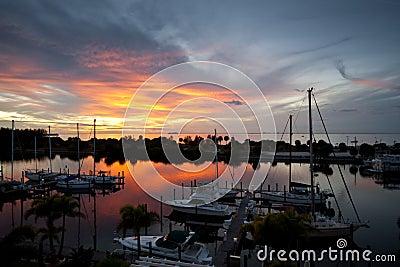 Dramatic Florida Resort Sunset