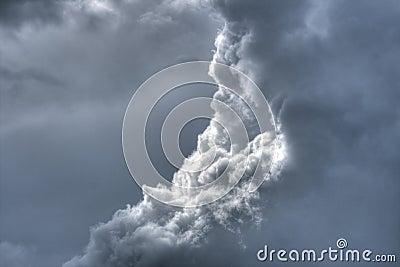 Dramatic fluffy sky