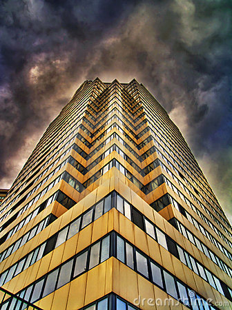 Free Dramatic HDR-photo Of  Building And Clouds Stock Photos - 4412403