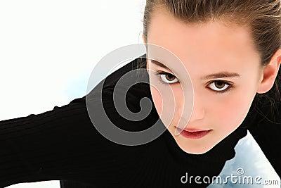 Dramatic Headshot Tween Girl