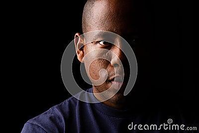 Dramatic Low Key Self Portrait