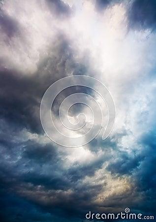 Dramatic overcast sky