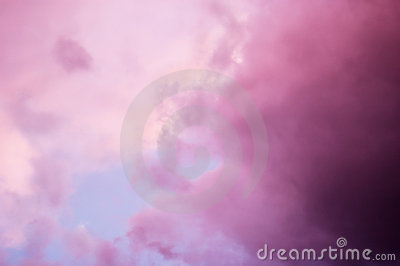 Dramatic pink clouds