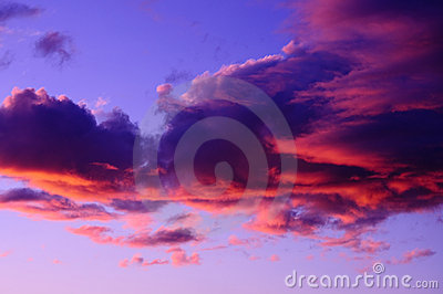 Dramatic Pink Purple Sunset