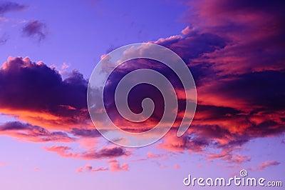 Dramatic Pink Purple Sunset