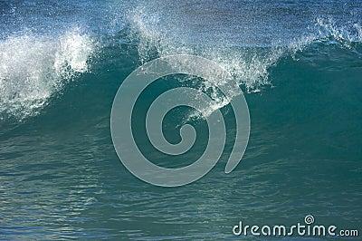 Dramatic Shorebreak Wave