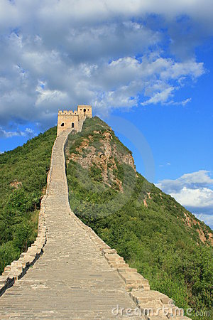 Dramatic skies at Simatai Great Wall of China