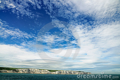 Dramatic sky over the White Cliffs of Dover
