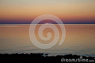 Dramatic sunrise on Lake Huron, Canada