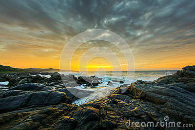 Dramatic sunrise, South Africa
