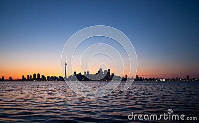 Dramatic sunset, Toronto, Canada