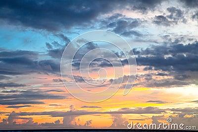 Dramatic sunset  on Trawangan