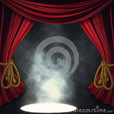 Free Dramatic Theater Stage With Spotlights Stock Image - 29431691