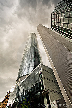 Free Dramatic View Of Skyscrapers Before The Rain Stock Images - 20442234