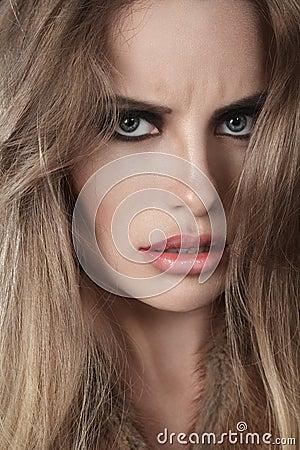 Dramatic woman portrait