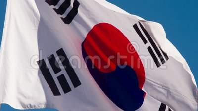 Drapeau d'état de la Corée banque de vidéos