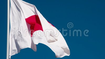 Drapeau d'état du Japon banque de vidéos