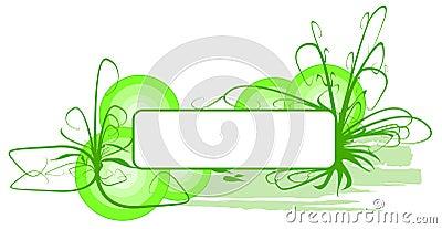 Bannière d herbe verte de vecteur