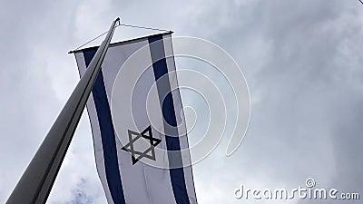 Drapeau de l'état d'Israël banque de vidéos