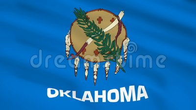 Drapeau de l'Oklahoma USA agitant au vent clips vidéos
