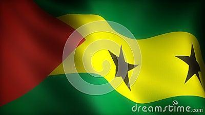 Drapeau de Sao Tomé-et-Principe clips vidéos