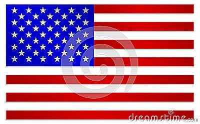 Drapeau des etats unis d 39 am rique dans le style m tallique de couleurs illustration de vecteur - Drapeau de l amerique ...