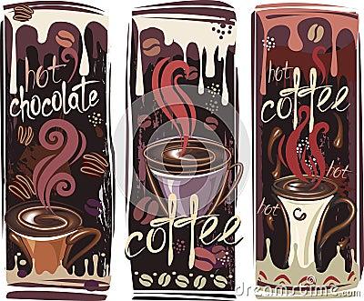 Drapeaux avec du café