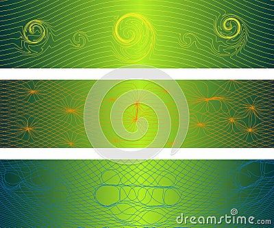 Drapeaux déformés d ondes