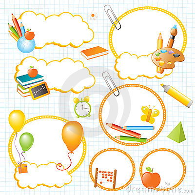 Drapeaux et étiquettes d éducation