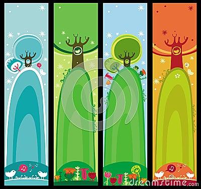 Drapeaux saisonniers